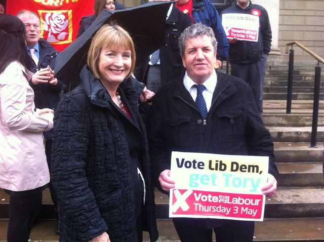 Bryan Lodge With Labour Deputy Leader Harriet Harman