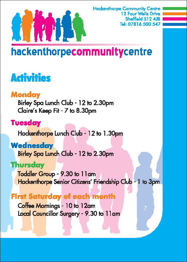 Hackenthorpe Community Centre Activities 1
