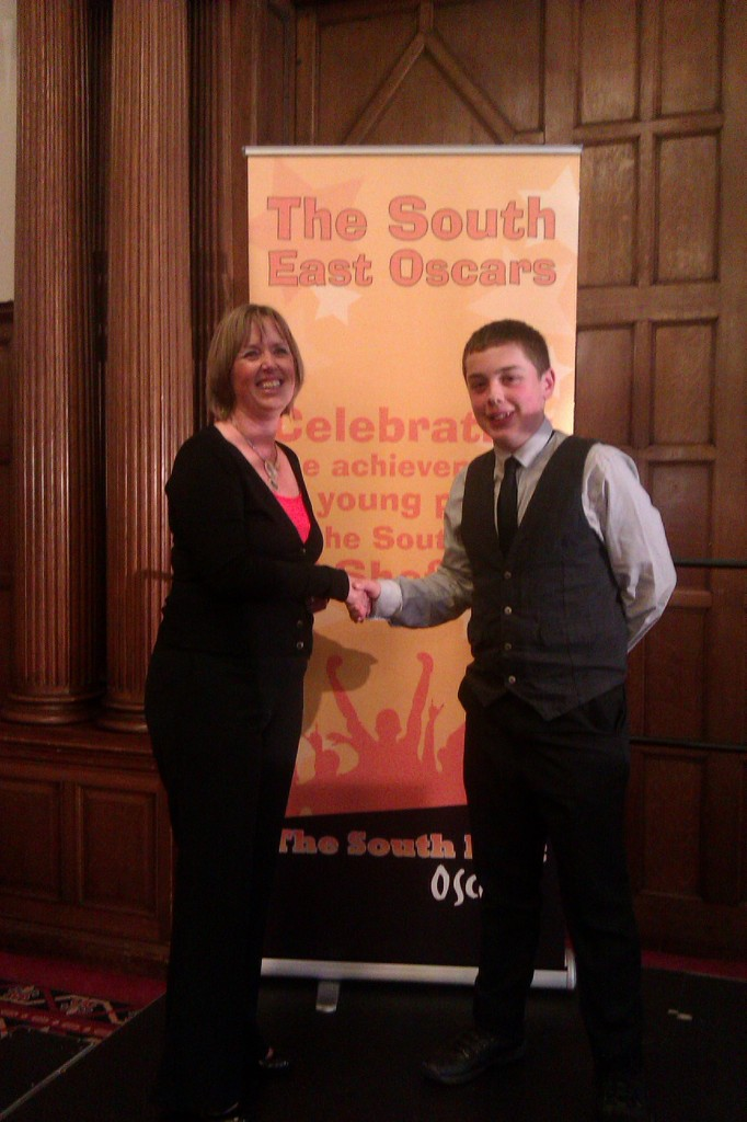Councillor Karen McGowan and Award Winner at South East Oscars
