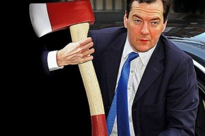 George Osbourne demonstrates his take on efficiencies!