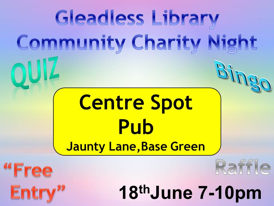 Charity night poster