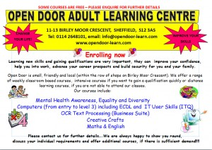 Adult Learning Flyer